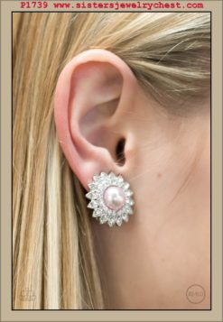 Traditional Sparkle - Pink Clip-On - Paparazzi Accessories.jpg