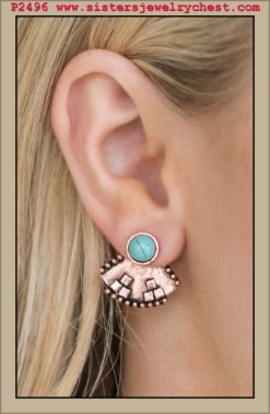Stylishly Santa Fe - Copper Post - Paparazzi Accessories.jpg