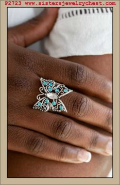 Butterfly Bliss - Blue - Paparazzi Accessories.jpg