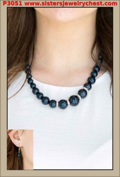 Party Pearls - Blue - Paparazzi Accessories.jpg