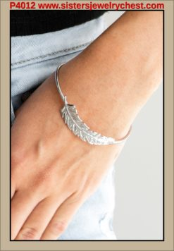 How Do You Like This FEATHER  - Silver - Paparazzi Accessories.jpg